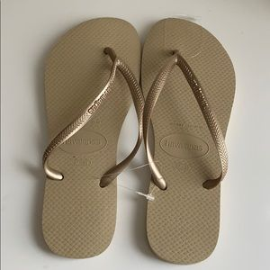 Champagne Havaianas Sandals 37-38
